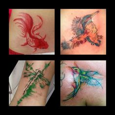 Watercolour Tattoo by Jo