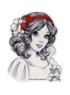 Disney Snow White Sketch Sticker | Hot Topic