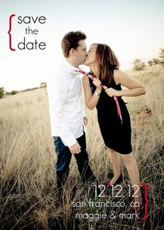 save the dates, such a cute idea