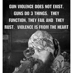 Guns are an inantimate object/tool. They cant kill people. Evil people kill people.