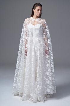 Wedding Dresses The 'Wild Love' Collection by Halfpenny London Bridal Cape, Bridal Wedding Dresses, Bridal Style, Wedding Veils, Bridal Gown, Lace Wedding, Glamorous Dresses, Stunning Dresses, Stylish Dresses