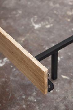 Diy Bed Frame, Bed Frames, Floating Bed Frame, Build A Platform Bed, Steel Bed Frame, Diy Bett, Retail Design, Dark Wood, Bunk Beds
