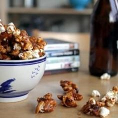 Bacon Caramel Corn for Oscars Party - ok, though it sounds more like a Super Bowl party