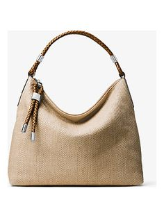 789b2899d7ce Michael Kors Collection Skorpios Woven Shoulder Bag Michael Kors Tote Bags