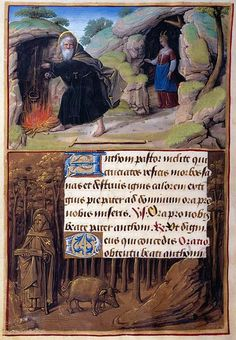 Hours of Henry VIII, Jean Poyer, 1500 - St. Anthony Abbot, The Morgan