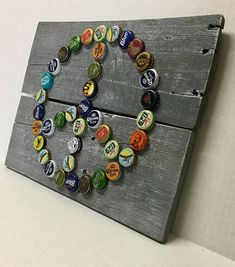 Peace Sign Bottle Cap Wall Art