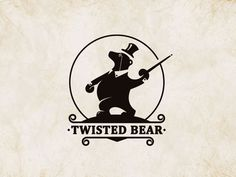 wonderful logo for Twisted Bear • by Stevan Rodic : http://dribbble.com/Stevan
