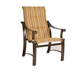 woodard fremont sling collection high back stackable dining chair in