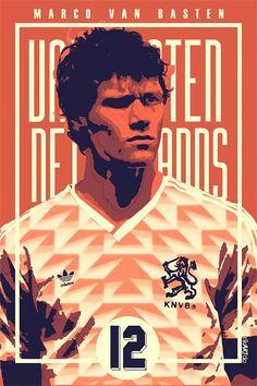 Marco Van Basten of Holland wallpaper. Football Awards, Football Icon, Football Is Life, Football Art, World Football, Football Stadiums, Retro Football, Fifa, Marco Van Basten