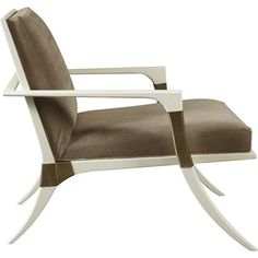 Baker Furniture : Athens Lounge Chair - 6134C : Chairs : Thomas Pheasant