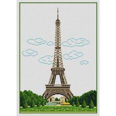 Αποτέλεσμα εικόνας για grille point de croix tour eiffel
