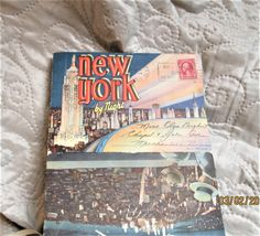 Vintage New York Postcards, Manhattan cards, 1930s New York City, Empire State Building, brooklyn bridge, statue of liberty by BoutiqueBouBou on Etsy