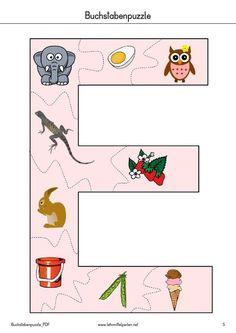 buchstaben puzzle pdf to flipbook kinder alphabet phonics school themes und pre school. Black Bedroom Furniture Sets. Home Design Ideas