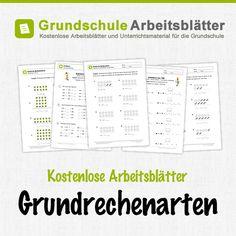 Kostenlose Arbeitsblätter und Unterrichtsmaterial zum Thema Grundrechenarten im Mathe-Unterricht in der Grundschule.