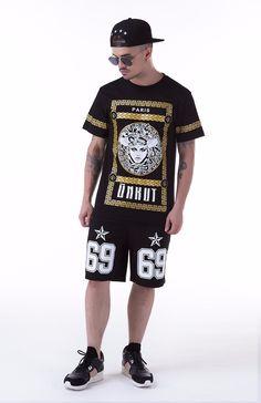 2016 Street Hip hop T shirts Men Streetwear Brand UNKUT tee shirt Cotton  Summer Tees Mens 3086b19c99a