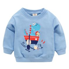 Department Name: ChildrenItem Type: Hoodies,SweatshirtsGender: UnisexFit: Fits true to size, take your normal sizeMaterial: CottonSleeve Length(cm): Full Boys Sweaters, Warm Sweaters, Sweat Shirt, Cute Sweatshirts, Hoodies, Baby Blue Sweater, Unisex Clothes, Baby Prints, Boys Shirts