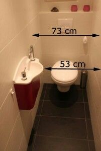 Especially for the guest bathroom where space is tight.