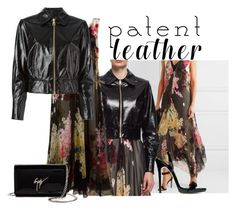 """""""#patentleather"""" by cayla-dy ❤ liked on Polyvore featuring Lanvin, Giuseppe Zanotti and patentleather"""