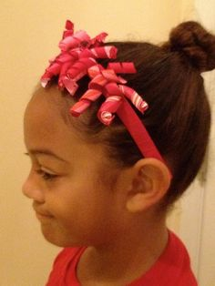 Girl's Valentine's Korkie Headband Pink Red by theribbonboutique, $19.95