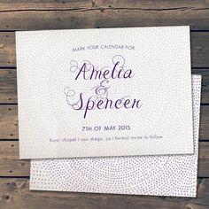 Dottie Pattern / Save The Date Wedding by PixelPaperStationery