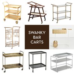 I've been trying to find the perfect bar cart design to have made here in Zambia. One of these should work.
