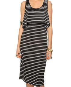 Two-Pieced Striped Dress