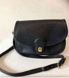 1ca2cc115987 Coach Handbag Vintage Prairie Saddle Bag 9954 Messenger Black Leather