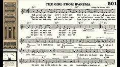 The Girl From Ipanema Love playalong for Cornet Trumpet Vocal or any Bb ...