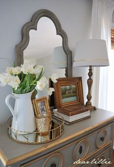 Dear Lillie: Soft Surroundings Dresser and One Finished Wall in our Master Bedroom                                                                                                                                                     More