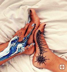art, henna, and painting image Tattoo Diy, Tatoo Henna, Tattoo Ideas, Leg Painting, Painting & Drawing, Body Painting Girls, Body Paint Art, Belly Painting, Painting Art