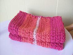TWO Hand Crocheted WashclothesCottonEcoFriendlyNEVER by Soapbirds, $19.00