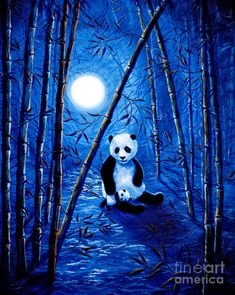 Zen Painting - Midnight Lullaby In A Bamboo Forest by Laura Iverson