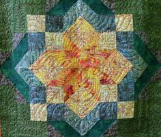 Carpenter's Star, with amazing quilting.