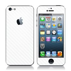iPhone 5 Carbon Fiber Skin White by iCoverSkin on Etsy, $19.95