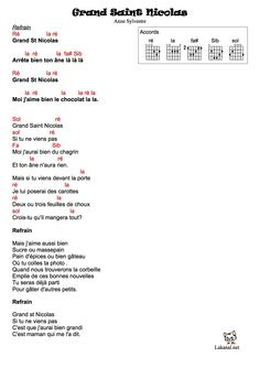 grand Saint Nicolas: chanson