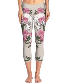25d75a730f Lovers Skulls and Roses Yoga Pant Skulls And Roses, Inked Shop, Active Wear,