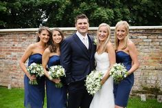 Bridal party - rustic theme wedding at Lains Barn, Wantage - flowers & decor by Seventh Heaven Events #seventhheavenevents -