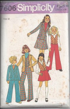 Simplicity 7606 Pattern for Girls' Unlined by VictorianWardrobe, $8.00