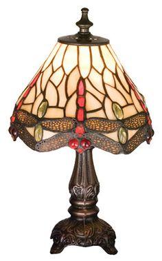 """Tiffany11.5"""" H Mini Table Lamp with Empire Shade"""
