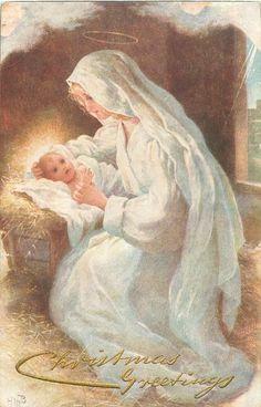 mãe Maria e Jesus