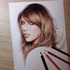 Taylor swift drawing by @pedrolopesart  _ Check my recent post  by instartpics