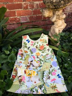 Pinafore little girls dress floral girls dress by TwigandPosy
