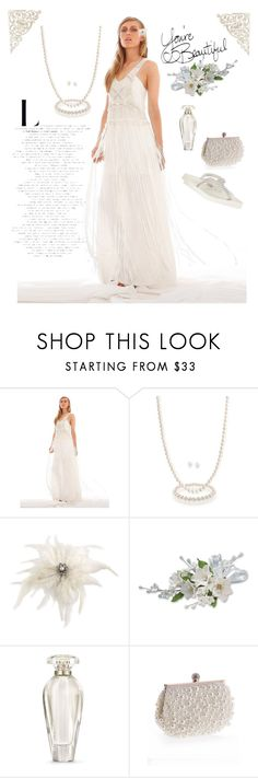 """""""Sumertime White"""" by blondemommy ❤ liked on Polyvore featuring IXIAH, Bling Jewelry, Carolee, Victoria's Secret, WithChic and Yellow Box"""