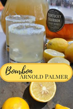 Bourbon Arnold Palmer Sun Tea and sweet lemonade combine to make this easy Bourbon Arnold Palmer. A refreshing summer cocktail you'll be sipping all summer long! Burbon Drinks, Bourbon Cocktails, Bar Drinks, Cocktail Drinks, Fruit Drinks, Cocktail Recipes, Easy Alcoholic Drinks, Arnold Palmer, Refreshing Summer Cocktails
