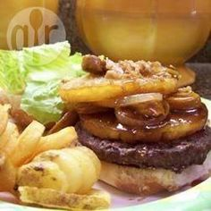 Hamburgers Barbecued with Pineapple and Bacon @ allrecipes.com.au