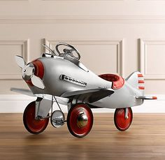 Vintage Pedal Plane | Riding Toys | Restoration Hardware Baby & Child $399 oh my. What little boy would not adore this!