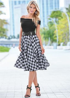 Pleated Fit And Flare Dress in Dresses For Sale, Cute Dresses, Casual Dresses, Fashion Dresses, Sweater Dresses, Cotton Dresses, Party Dresses, Formal Dress Shops, Frack