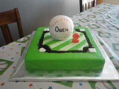 Baseball themed birthday cake (Made by my mom @ Frosted Fun)