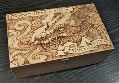 Pyrography dragon box by ~BlueMidna on deviantART