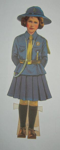 princess elizabeth girl guide paperdoll! $24